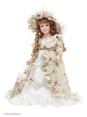 Кукла фарфоровая Вилора Lisa Jane. Цвет: бледно-розовый, светло-зеленый