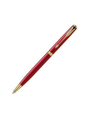 Ручка шариковая SONNET Slim Laque Red GT Parker. Цвет: красный