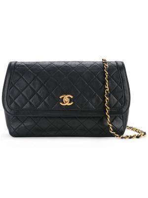 Quilted pouch Chanel Vintage. Цвет: чёрный
