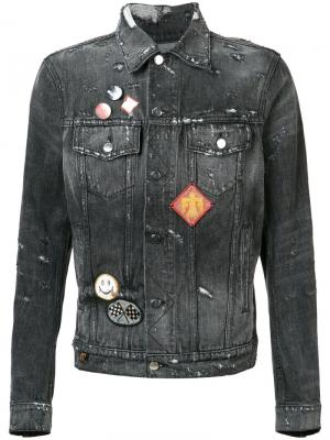 Patches denim jacket Amiri. Цвет: серый