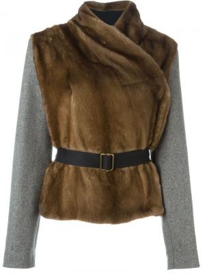 Куртка с меховой панелью Inès & Maréchal. Цвет: коричневый