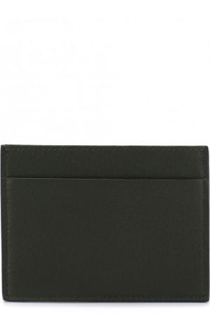 Кожаный футляр для кредитных карт Giorgio Armani. Цвет: зеленый