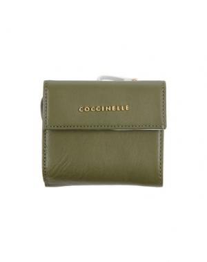 Бумажник COCCINELLE. Цвет: зеленый-милитари