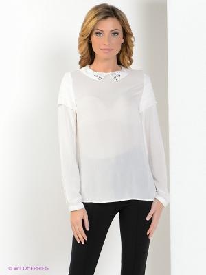 Блузка MILANO ITALY. Цвет: белый