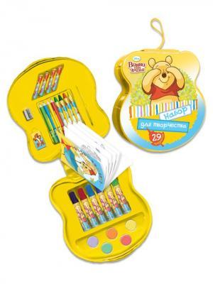 Подарочный набор для творчества 29 предметов Disney Винни. Цвет: желтый
