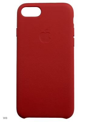 Кейс для iPhone Apple 7 Leather Case (PRODUCT)RED (MMY62ZM/A). Цвет: красный