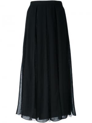 Плиссированная юбка Red Valentino. Цвет: чёрный