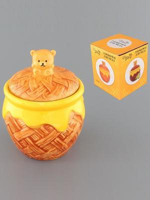 Горшочек для меда Мишка косолапый Elan Gallery. Цвет: желтый, коричневый