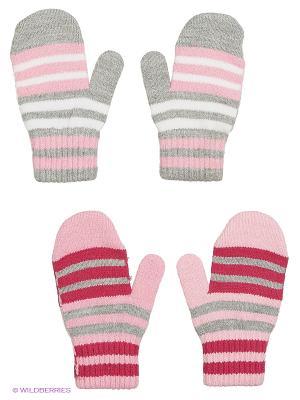 Варежки FOMAS. Цвет: светло-серый, малиновый, бледно-розовый, розовый