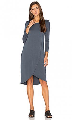Платье cala LA Made. Цвет: аспидно-серый