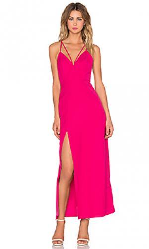 Макси платье will you NBD. Цвет: розовый