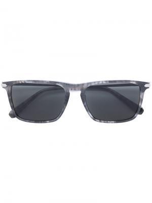 Солнцезащитные очки с квадратной оправой Brioni. Цвет: серый
