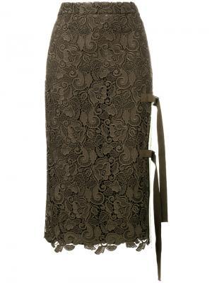Кружевная юбка макраме Nº21. Цвет: зелёный