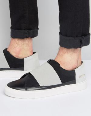 Systvm Черные кроссовки-слипоны с эластичным ремешком. Цвет: черный