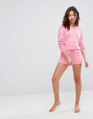 Boux Avenue Комплект с шортами. Цвет: розовый