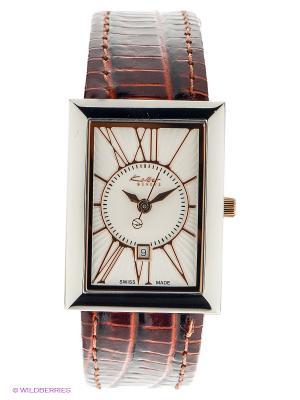 Часы KOLBER. Цвет: коричневый, серебристый