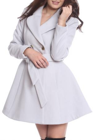 Пальто Moda di Chiara. Цвет: серый