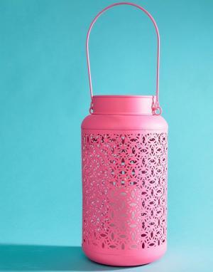 Ian Snow Неоново-розовый металлический фонарь. Цвет: мульти