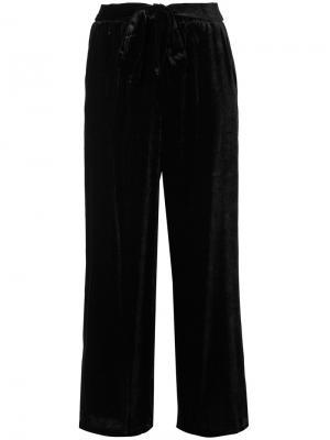 Укороченные широкие брюки Gold Hawk. Цвет: чёрный