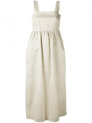 Платье на пуговицах Ter Et Bantine. Цвет: телесный