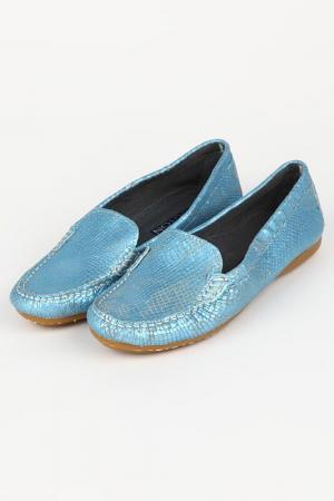 Мокасины Bouton. Цвет: голубой