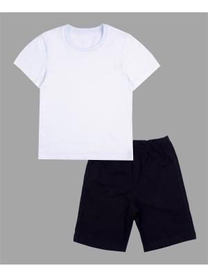Комплект: футболка, шорты Старт Апрель. Цвет: белый, черный
