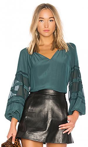 Блузка rae RAMY BROOK. Цвет: темно-зеленый