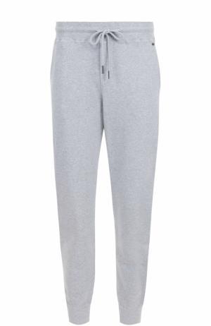 Хлопковые домашние брюки Hanro. Цвет: серый
