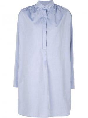 Платье-рубашка Stevenson Atea Oceanie. Цвет: синий