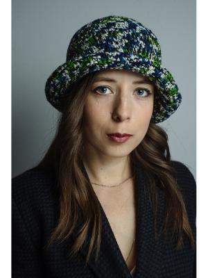 Шляпа Итальянская мозаика ТТ. Цвет: синий, белый, зеленый