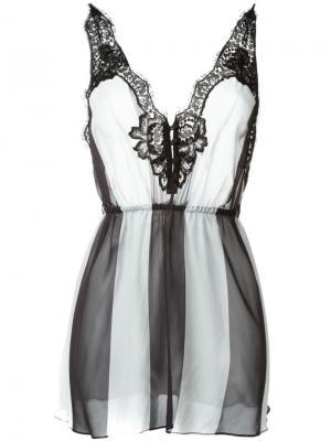 Полосатая ночная сорочка Rosamosario. Цвет: чёрный