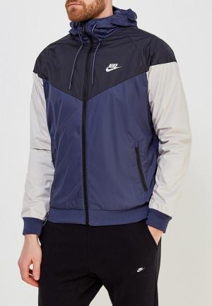 Ветровка Nike. Цвет: синий