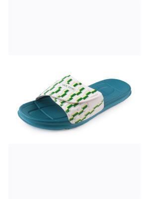 Шлепанцы Mon Ami. Цвет: морская волна, серо-голубой