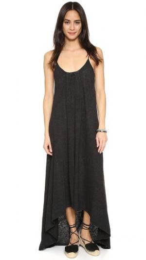 Асимметричное макси-платье Lanston. Цвет: голубой