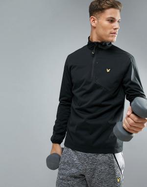 Lyle & Scott Fitness Черная легкая спортивная куртка Macintyre. Цвет: черный