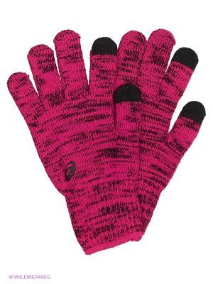 Перчатки Asics Liner Glove. Цвет: розовый