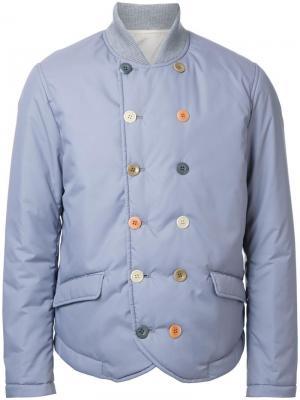 Дутая двубортная куртка Undercover. Цвет: серый