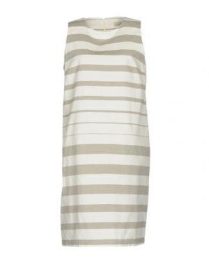 Платье до колена BRUNO MANETTI. Цвет: белый