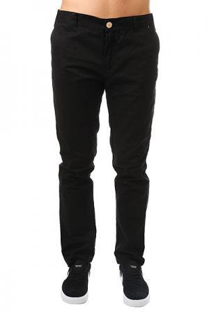 Штаны прямые  Classic Chino Black TrueSpin. Цвет: черный