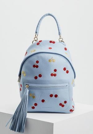 Рюкзак Coccinelle. Цвет: голубой