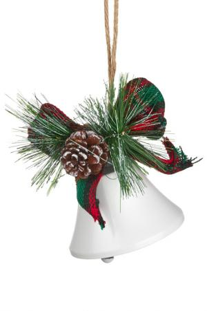 Новогодний декор Колокол DUE ESSE CHRISTMAS. Цвет: белый