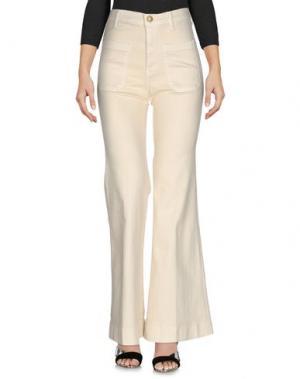 Джинсовые брюки THE GREAT.. Цвет: слоновая кость