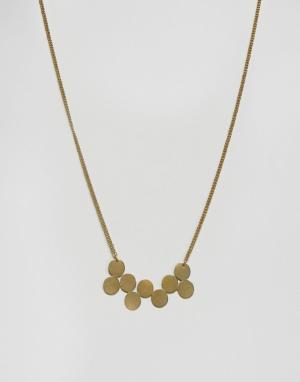 Made Золотистое ожерелье-кластер. Цвет: золотой
