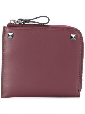 Бумажник  Garavani Rockstud Valentino. Цвет: розовый и фиолетовый