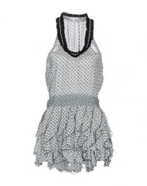 Короткое платье POUPETTE ST BARTH. Цвет: белый