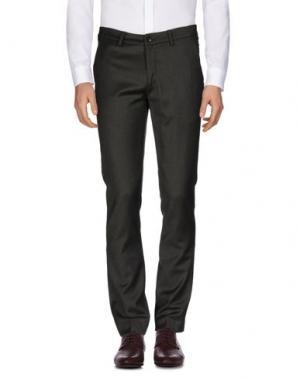 Повседневные брюки REVERES 1949. Цвет: темно-зеленый