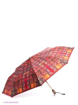 Зонт Slava Zaitsev. Цвет: оранжевый, зеленый, фиолетовый, красный