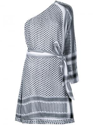 Платье на одно плечо Cecilie Copenhagen. Цвет: белый