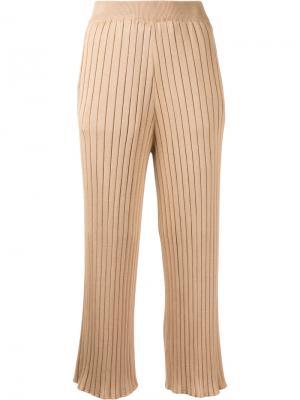 Укороченные брюки в рубчик Loveless. Цвет: коричневый
