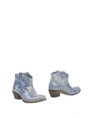 Полусапоги и высокие ботинки FABRIZIO CHINI. Цвет: грифельно-синий
